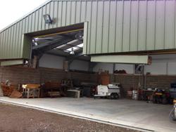 aircraft hangars front view